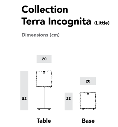 Dimensions luminaires Terra Incognita (Version Little)