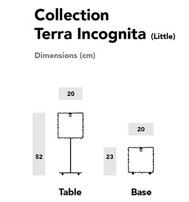 Dimensions luminaires Terra Incognita (Version Little)