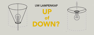 Uw lampenkap : up of down?
