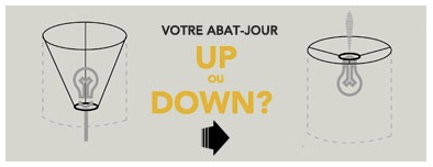 Versions UP et DOWN des abats-jour luciollle