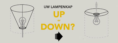 Uw lampenkap : Up or Down?