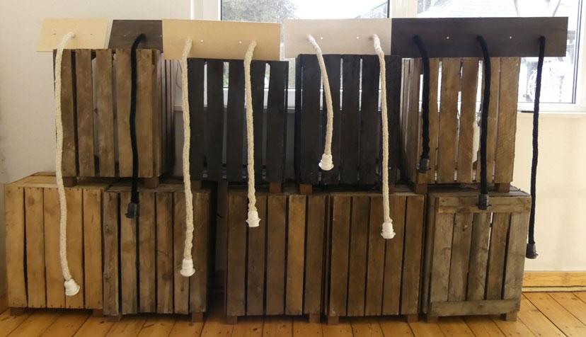 Les fils électriques gainés en fil tricotés de chez luciollle